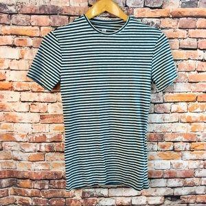 H&M Slim Fit Striped Soft T Shirt XS